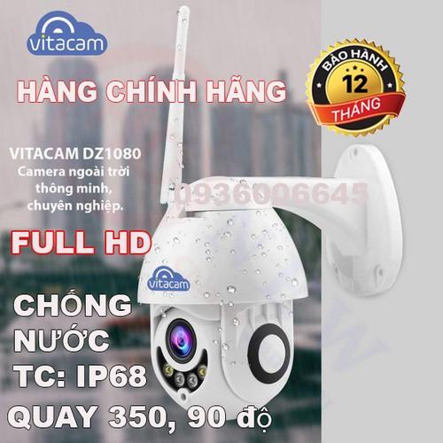 camera ngoài trời vitacam dz1080S pro xoay 350 độ, đàm thoại 2 chiều dz 1080