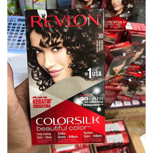 Thuốc nhuộm tóc Revlon ColorSilk 3D 30 Nâu Sậm - 7428455 , 14049114 , 15_14049114 , 150000 , Thuoc-nhuom-toc-Revlon-ColorSilk-3D-30-Nau-Sam-15_14049114 , sendo.vn , Thuốc nhuộm tóc Revlon ColorSilk 3D 30 Nâu Sậm