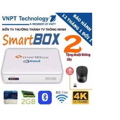Android TV Box VNPT SmartBox V2 + Tặng 01 chuột không dây