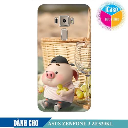 Ốp lưng nhựa dẻo dành cho Asus Zenfone 3 ZE520KL in hình Heo Con Tham Ăn