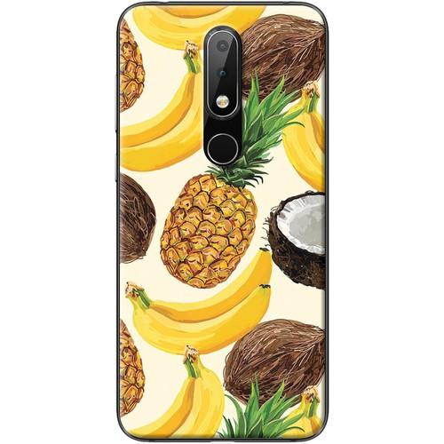 Ốp lưng nhựa dẻo Nokia 5.1 Plus Chuối dứa dừa