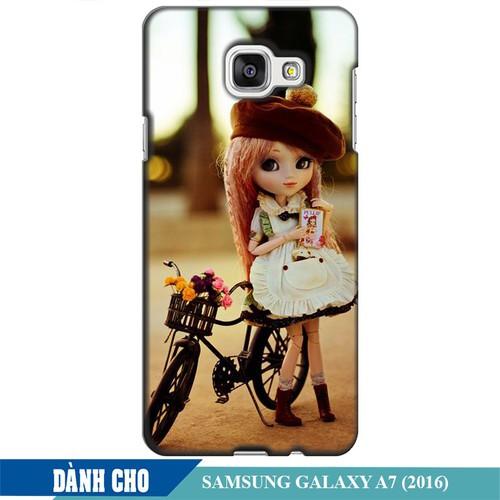 Ốp lưng nhựa dẻo dành cho Samsung Galaxy A7 2016 in Baby and Bicycle Mẫu 1