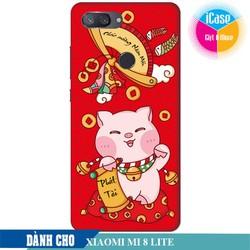 Ốp lưng nhựa dẻo dành cho Xiaomi Mi 8 Lite in hình Lời Chúc Phát Tài