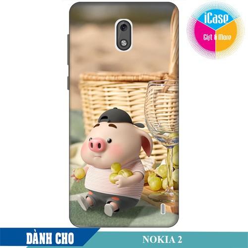 Ốp lưng nhựa dẻo dành cho Nokia 2 in hình Heo Con Tham Ăn