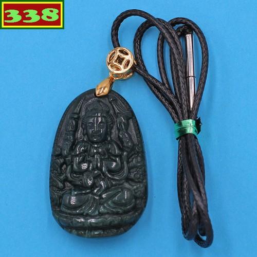 Vòng cổ Thiên Thủ Thiên Nhãn đá cẩm thạch 3.6 cm DEBCX8 phật bản mệnh tuổi Tý