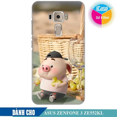 Ốp lưng nhựa dẻo dành cho Asus Zenfone 3 ZE550KL in hình Heo Con Tham Ăn