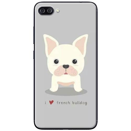 Ốp lưng nhựa dẻo Asus Zenfone 4 Max ZC520KL Chó bull xám