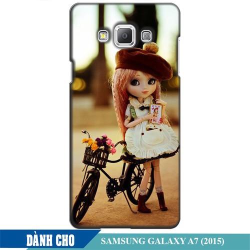 Ốp lưng nhựa dẻo dành cho Samsung Galaxy A7 in Baby and Bicycle Mẫu 1
