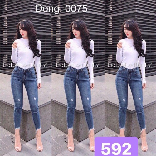 Quần jeans nữ trơn
