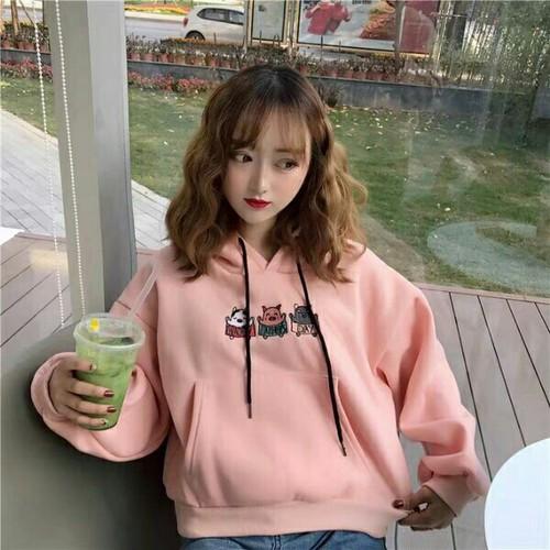 Áo hoodie nữ dạo phố cute