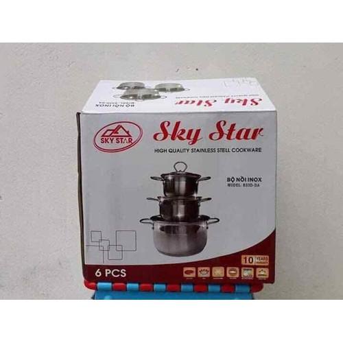 Bộ Nồi Inox 3 Đáy Sky Star Dùng Được Bếp Từ