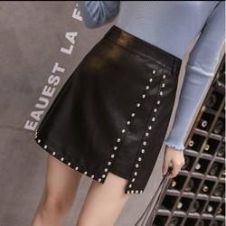 Chân váy da đính hạt sành điệu Mã: VN811