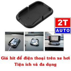 Giá để đỡ điện thoại đồ đạc vật dụng chống trượt trên Ô Tô Xe Hơi gắn mặt táp lô taplo tablo