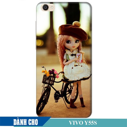 Ốp lưng nhựa dẻo dành cho Vivo Y55s in Baby and Bicycle Mẫu 1