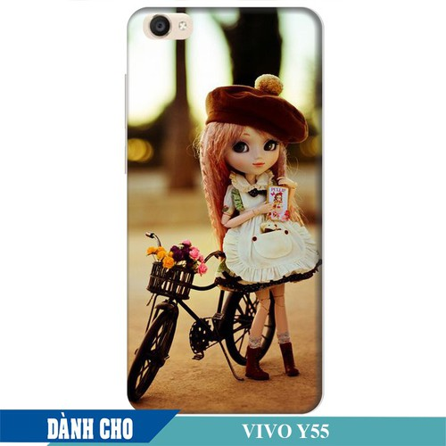 Ốp lưng nhựa dẻo dành cho Vivo Y55 in Baby and Bicycle Mẫu 1