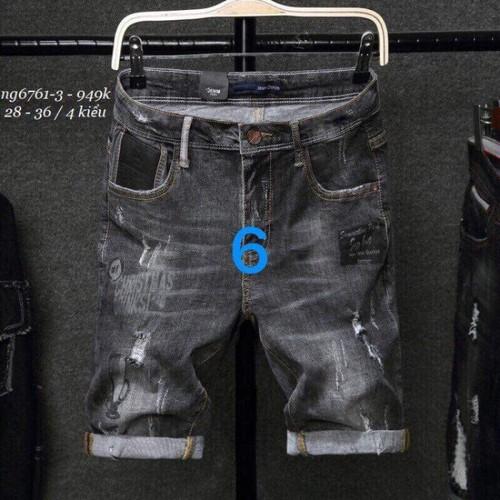 Quần short jeans đen thời trang