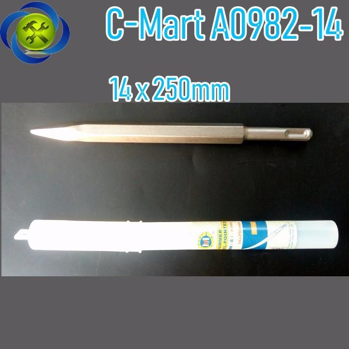 Đục nhọn đuôi gài C-Mart A0982-14 14x250mm 1