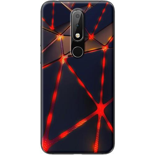 Ốp lưng nhựa dẻo Nokia 5.1 Plus Tam giác đen đỏ