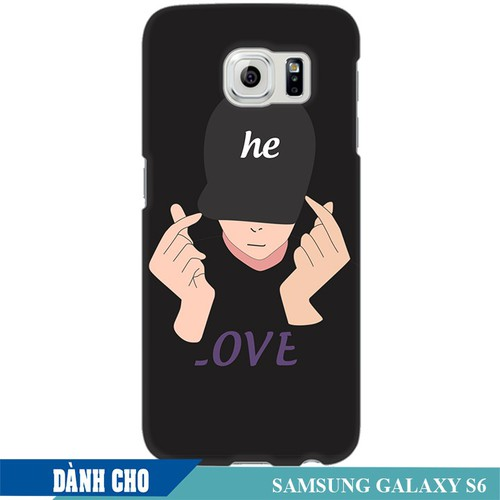 Ốp lưng nhựa dẻo dành cho Samsung Galaxy S6 in Chàng Trai Thả Tim