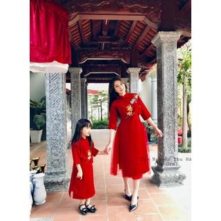 [hổ trợ phí ship - dc kiểm hàng] Áo dài cách tân - áo dài mẹ và bé - đầm mẹ và bé - 3201314 thumbnail