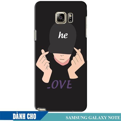 Ốp lưng nhựa dẻo dành cho Samsung Galaxy Note 5 in Chàng Trai Thả Tim
