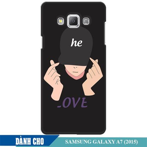 Ốp lưng nhựa dẻo dành cho Samsung Galaxy A7 in Chàng Trai Thả Tim