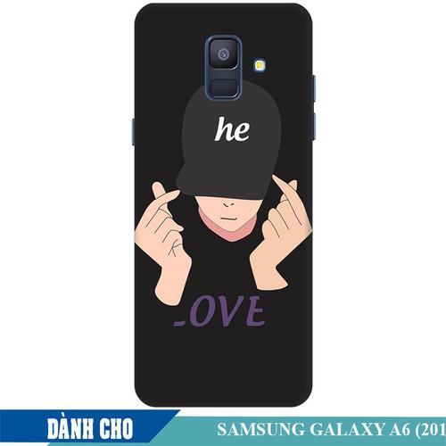 Ốp lưng nhựa dẻo dành cho Samsung Galaxy A6 2018 in Chàng Trai Thả Tim