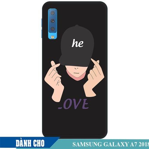 Ốp lưng nhựa dẻo dành cho Samsung GalaxyA7 2018 in Chàng Trai Thả Tim