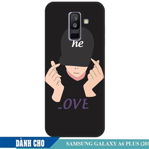 Ốp lưng nhựa dẻo dành cho Samsung Galaxy A6 Plus in Chàng Trai Thả Tim