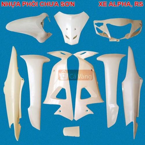 Vỏ nhựa xe máy hiệu WAVE ALPHA, RS, S100 nhựa CAO CẤP PHÔI CHƯA SƠN