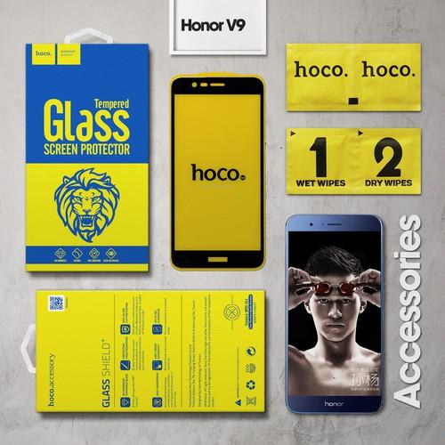 Kính cường lực Huawei Honor V9 Full Hoco đen