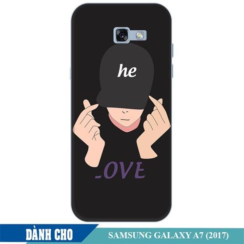 Ốp lưng nhựa dẻo dành cho Samsung Galaxy A7 2017 in Chàng Trai Thả Tim