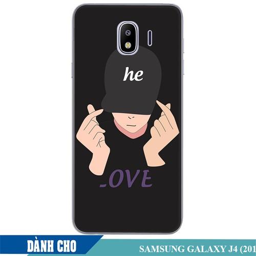 Ốp lưng nhựa dẻo dành cho Samsung Galaxy J4 2018 in Chàng Trai Thả Tim