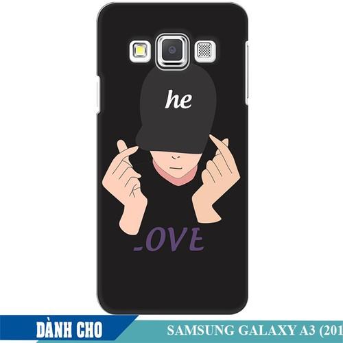 Ốp lưng nhựa dẻo dành cho Samsung Galaxy A3 in Chàng Trai Thả Tim