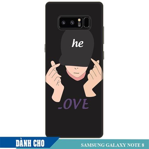Ốp lưng nhựa dẻo dành cho Samsung Galaxy Note 8 in Chàng Trai Thả Tim