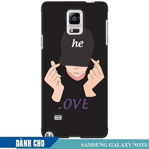 Ốp lưng nhựa dẻo dành cho Samsung Galaxy Note 4 in Chàng Trai Thả Tim