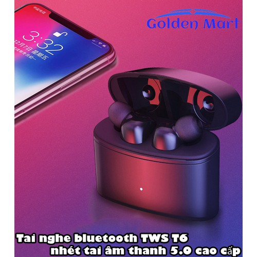 Tai nghe bluetooth TWS T6 - Hàng Cao Cấp