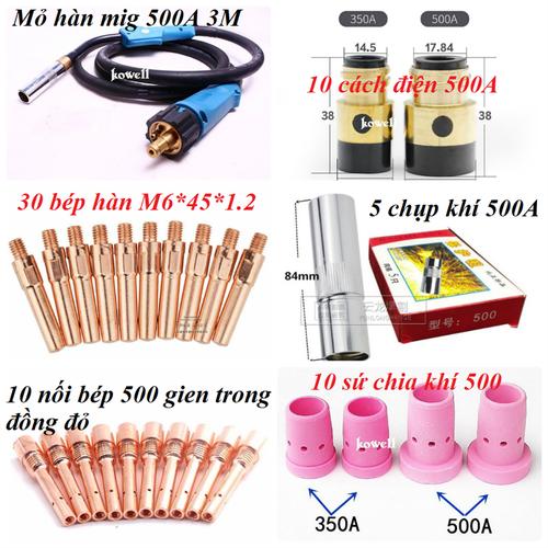 Combo Cách điện 500 mỏ hàn - phụ kiện máy hàn