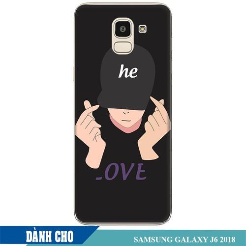 Ốp lưng nhựa dẻo dành cho Samsung Galaxy J6 2018 in Chàng Trai Thả Tim
