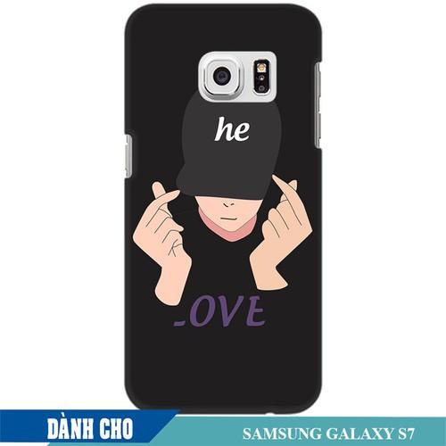 Ốp lưng nhựa dẻo dành cho Samsung Galaxy S7 in Chàng Trai Thả Tim