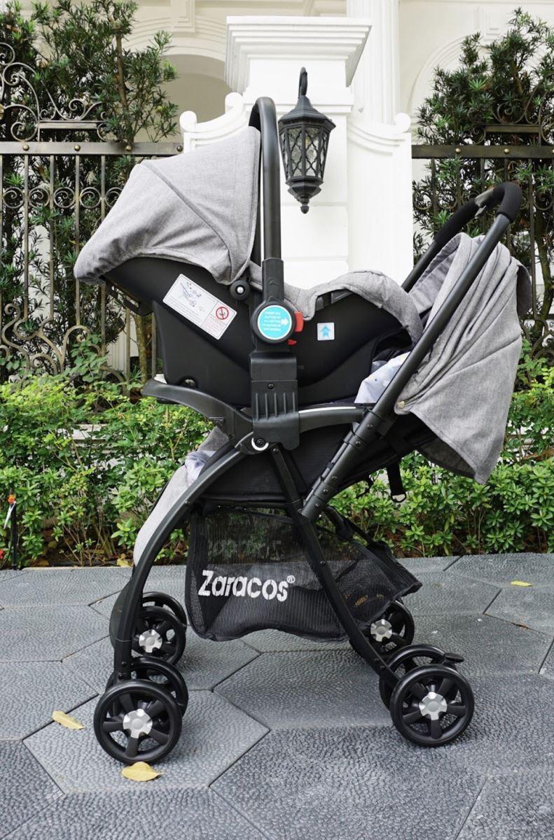 bộ xe đẩy + ghế ngồi ô tô Zaracos Revo 2506 - Grey
