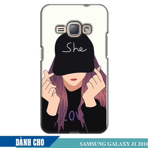 Ốp lưng nhựa dẻo dành cho Samsung Galaxy J1 2016 in Cô Gái Thả Tim