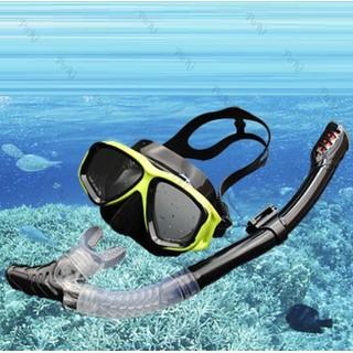 Bộ kính lặn Ống thở, mắt KÍNH CƯỜNG LỰC - VÀNG ĐEN - POKI - p24YeB thumbnail