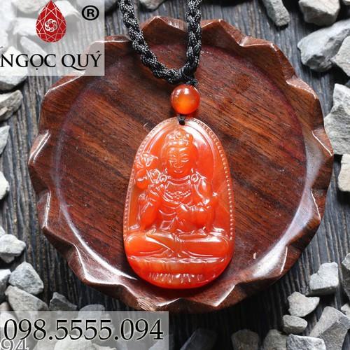 Phật đại thế chí bồ tát đá mã não đỏ 5x3cm