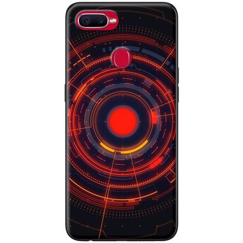 Ốp lưng nhựa dẻo Oppo F9 Camera đỏ