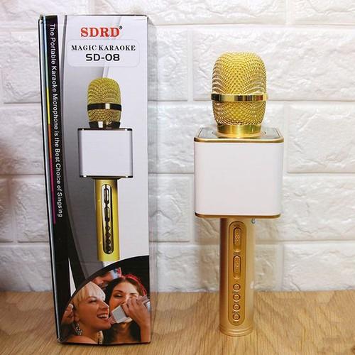 Mic karaoke , mic hát karaoke , micro bluetooth , micro karaoke bluetooth , micro bluetooth karaoke , mic hát kèm loa SD-08