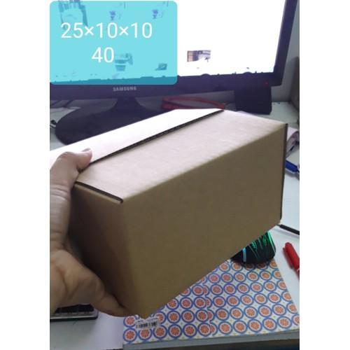 com bo 40 hộp carton 25x10x10 cm
