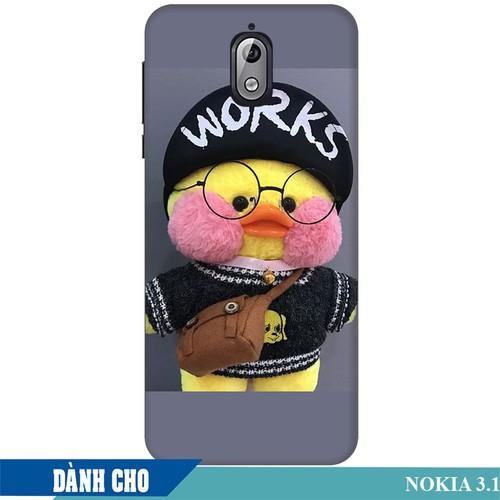 Ốp lưng nhựa dẻo dành cho Nokia 3.1 in Vịt Con Dễ Thương Mẫu 3