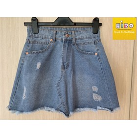 Chân váy bé gái chân váy jeans chân váy jean cho mẹ và bé 25-55kg - CVZ002