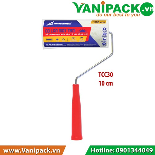 Cọ lăn MẶT TRỜI Sử dụng cho sơn dầu và keo tổng hợp 10cm Thành Công TCC30